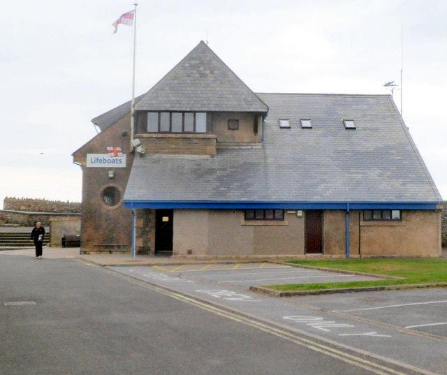 Western side of RNLI Lifeboat Station, Porthcawl