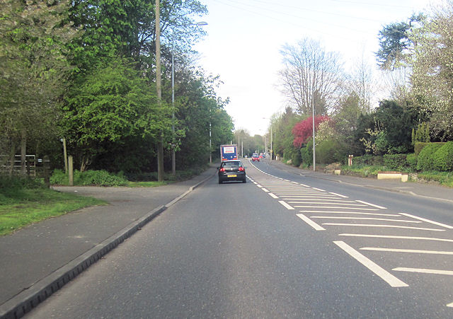 A51 west passing Vicars Cross