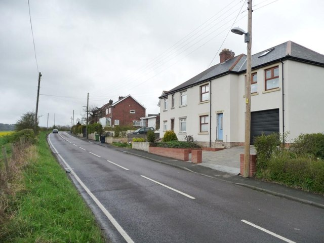 Extended houses on Lead Road