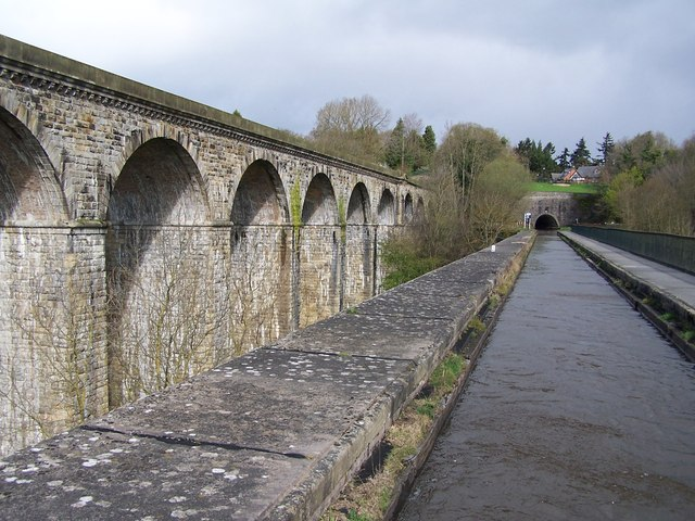 Chirk viaduct, aqueduct and tunnel