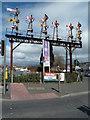 SX8670 : Newton Abbot - preserved signal gantry by Chris Allen