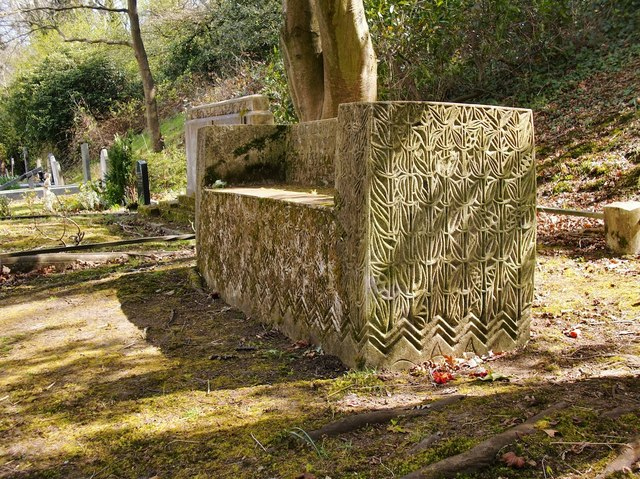 The Ismay plot, Putney Vale Cemetery: the bench