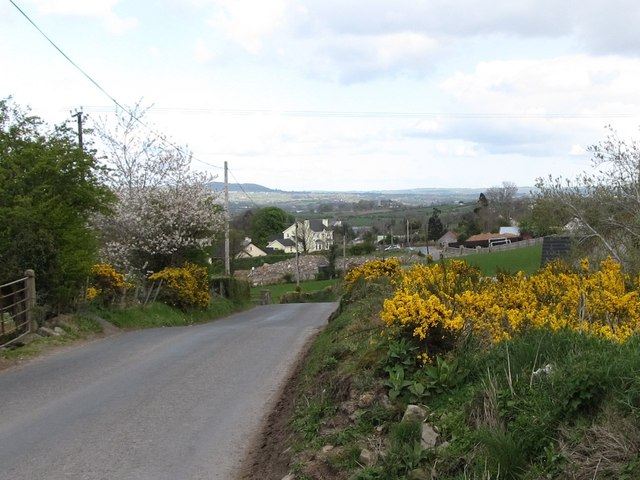 View north along the Drumlough Road (B7)