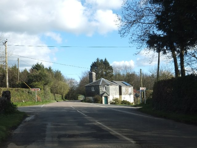 The Rock at a crossroads south of Gulworthy