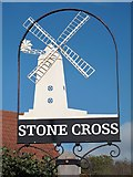 TQ6104 : Stone Cross sign by Oast House Archive
