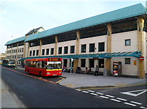 SH4862 : Caernarfon Bus Station by Jaggery