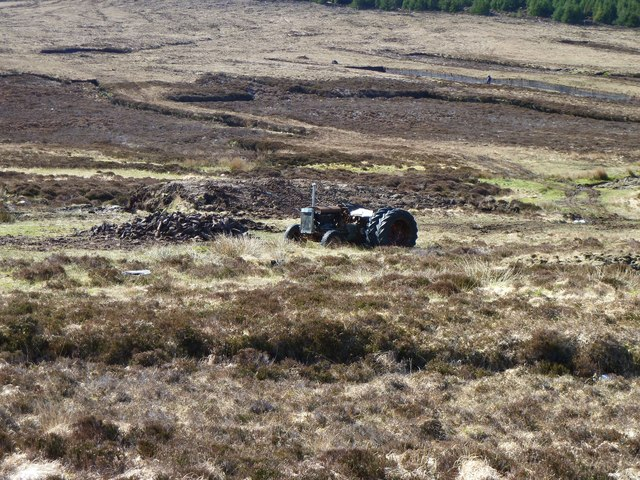 Tractor on North Uist