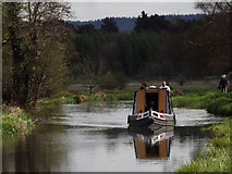 TQ0153 : Narrowboat on the Wey Navigation by Colin Smith