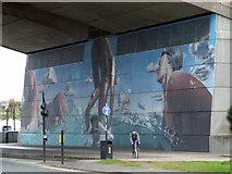 NS5764 : Under the M8 Kingston Bridge by Thomas Nugent