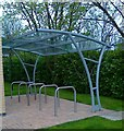 NZ2533 : Cycle Shelter, Surgery, Spennymoor by Alex McGregor
