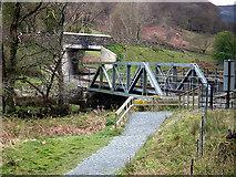 SH5947 : Girder railway bridge over Afon Glaslyn by John Lucas