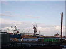 TQ7769 : Basin 3 Northside, Chatham Docks by David Anstiss