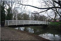 TR1558 : Footbridge over the Great Stour by N Chadwick