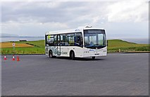 C9443 : Causeway Coaster bus turning in car park by Giants Causeway Visitor Centre, Causeway Head, near Bushmills by P L Chadwick
