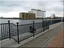 TQ4180 : Royal Victoria Dock and Millennium Mills by Marathon
