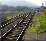 SH5639 : A view west from Porthmadog railway station by Jaggery