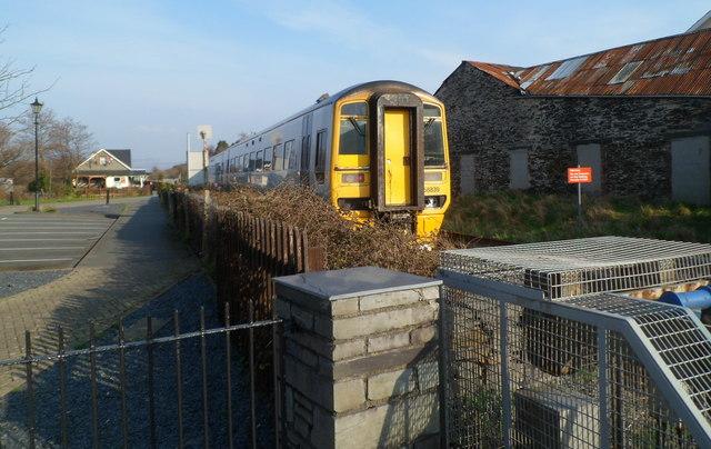 Train leaving Porthmadog - next stop Minffordd