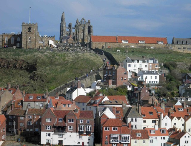 Whitby Abbey from across the river