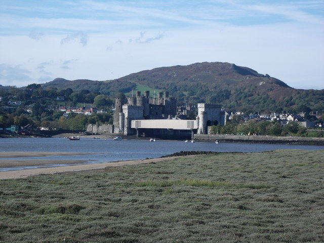 Conwy Castle and Railway Bridge