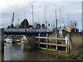 TR3358 : Swing Bridge over the River Stour by Stephen Craven