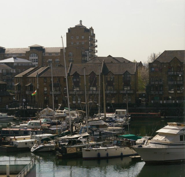 Limehouse Basin from the DLR