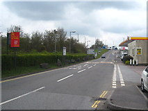 ST0207 : Access road at Cullompton Services by Rod Allday