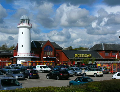 SD5129 : Supermarket with lighthouse! by John Darch