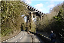 SK1373 : Miller's Dale twin railway viaducts above the River Wye by Chris Morgan