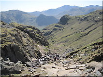 NY2807 : Footpath down to Dungeon Ghyll by Les Hull