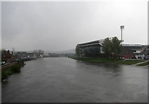 SK5838 : View from Trent Bridge in April by John Sutton