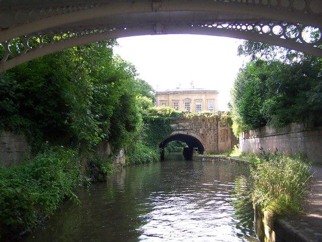 Kennet and Avon Canal passing through Sydney Gardens, Bath