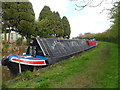 SJ4934 : Working Narrow Boat Hadar moored outside Whixhall Marina by Keith Lodge