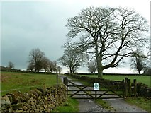 SK2767 : Farm track to Fallinge  by Graham Hogg