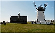 SD3727 : Lytham Green, Windmill and Old Lifeboat House by Gerald England