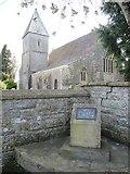 ST4636 : Memorial by the church by Bill Nicholls