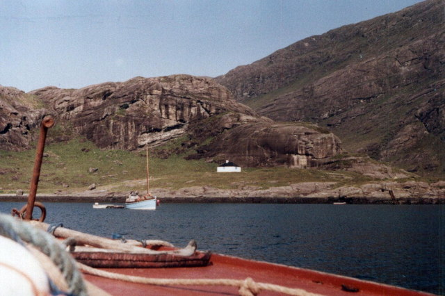 Arriving at Coruisk by boat from Elgol
