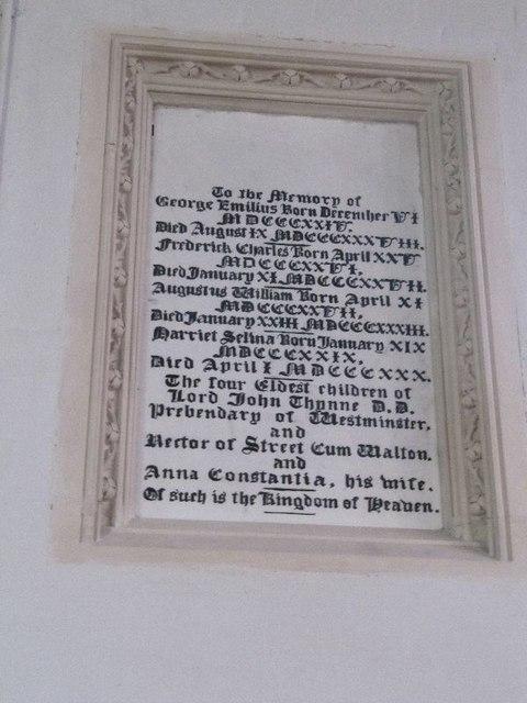 Memorial in the chancel