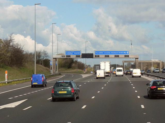 M6 Northbound, Junction 31A