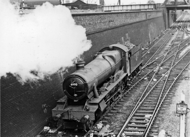 Express locomotive backing out of Old Oak Common Depot to take up a train at Paddington