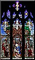 TQ2889 : St James, Muswell Hill - Stained glass window by John Salmon