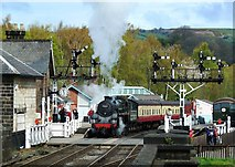 NZ8205 : The Green Knight at Grosmont by Mary and Angus Hogg