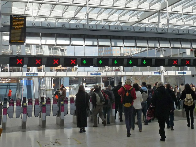 Exit gates at London Bridge Station