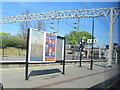 SP9512 : Advertising Boards on Platform 5 by Chris Reynolds