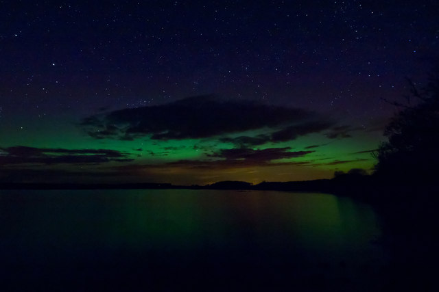 The Northern Lights over Mochrum Loch
