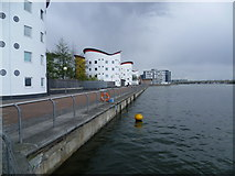 TQ4380 : Royal Albert Dock and student accommodation at the University of East London by Marathon