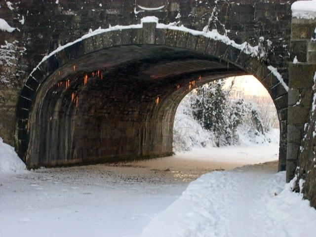 Pink Icicles, Christmas Day Sunset at Louisa Bridge, Leixlip