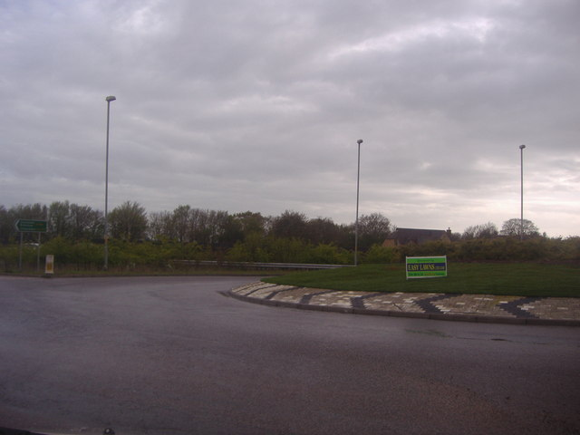 Roundabout on Stortford Road, Dunmow