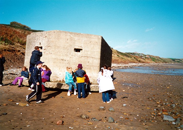 Wartime pillbox on Hunmanby Sands