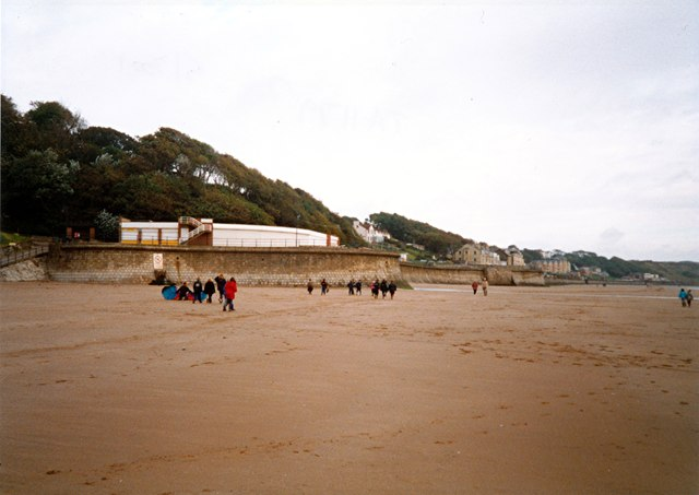 The southern end of Filey sea wall and promenade
