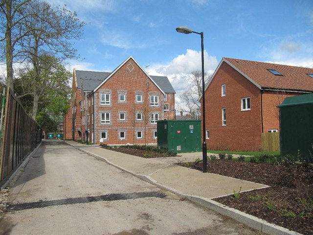 The new housing at Fairmile